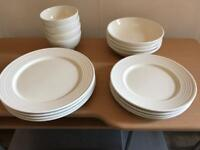 16 piece cream dinning set