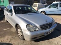 2002 Mercedes C220 diesel automatic, does export, starts and drives well, car located in Gravesend K