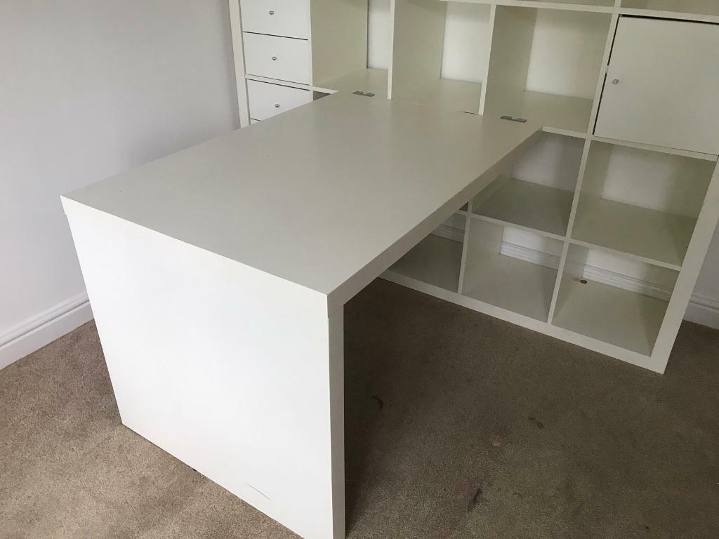Ikea White Kallax Desk In Sutton Coldfield West