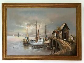 Vintage Original Painting Picture Art