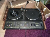Citronic Severn MK1 BSR Turntables record player DJ decks with PA amp and speakers MA-100 amplifier