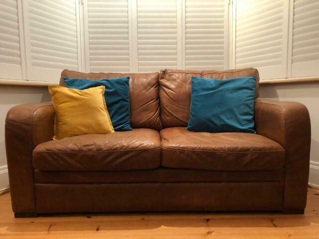 Two Halo Leather Sofas In