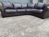 Brown dfs corner sofa, couch, suite, furniture 🚛🚚