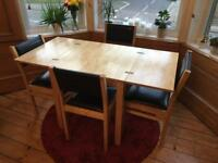 John Lewis Dining Table + 4 Chairs - Excellent Condition