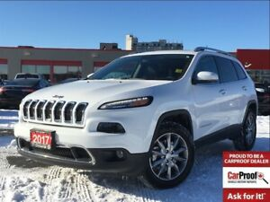 2017 Jeep Cherokee LIMITED**4X4**LEATHER**SUNROOF**NAVIGATION**
