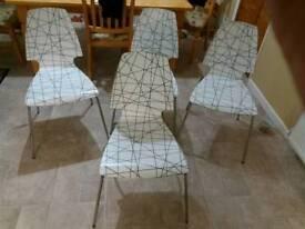 Retoro 1960ths set of 4 dinning chairs