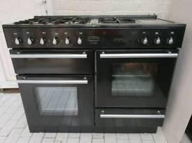 Rangemaster Toledo Gas Cooker in Black 110CM