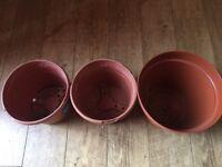 1, 7L Plant pot 2,5L Plant pots