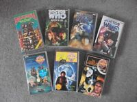 7 DOCTOR WHO VHS VIDEOS