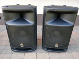 "Yamaha MSR400 12"" Active Speakers (Pair) With Covers"