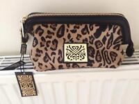 BIBA leopard print cosmetic bag
