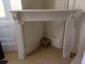 Timber wood fire surround - painted white