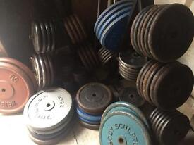 IRON WEIGHTS PLATES £1 FOR 1KG