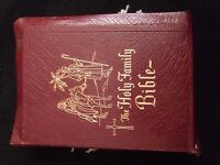 vintage catholic bible 1956 great gold edge lovely condition