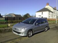 Peugeot 206 diesel 1.4 2006 estate quick silver