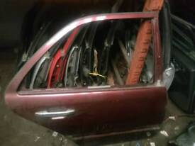 Mercedes benz w202 C Class rear Right Driver side OS door in maroon 1994-2000