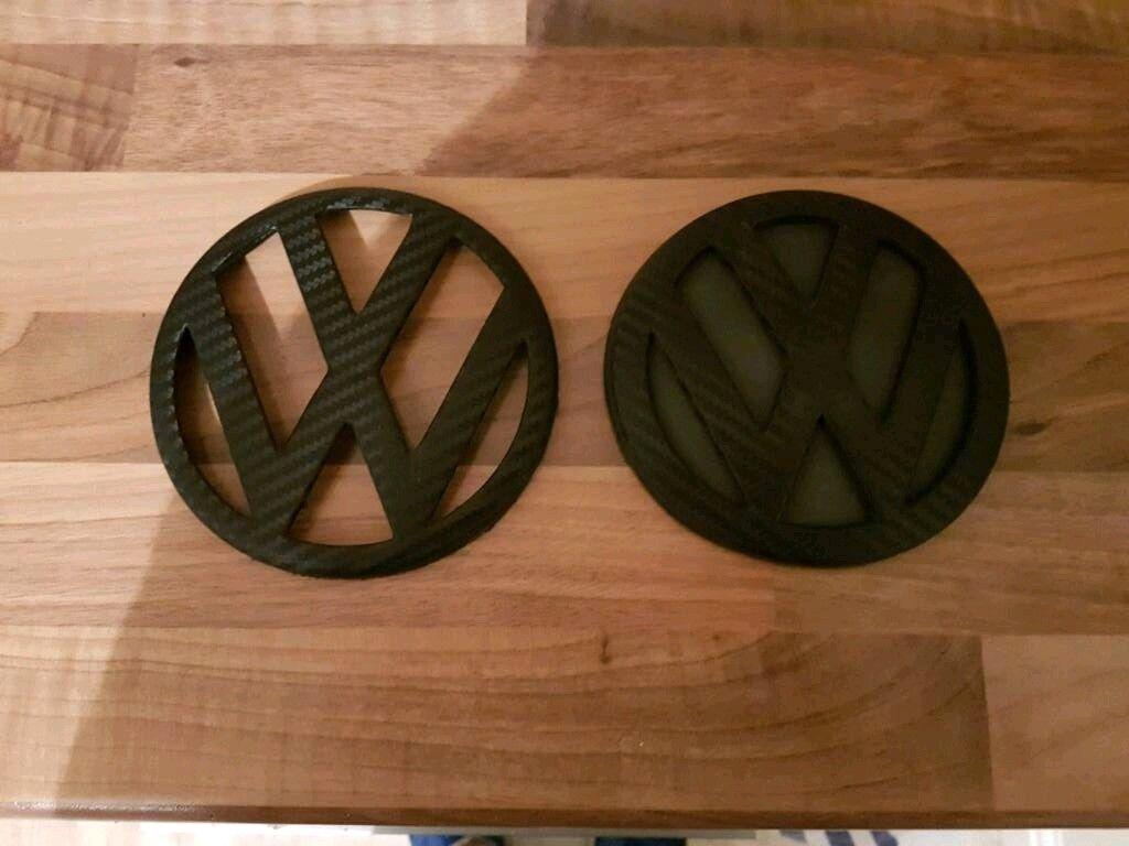 Carbon wrapped front/rear mk4 golf vw badges