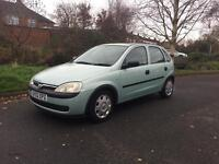 2002 Vauxhall Corsa 1.2 Life 5 Door with 1 Years MOT