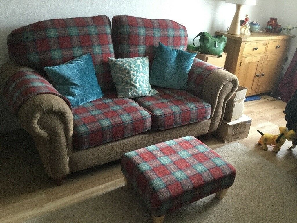 Sofa, armchair and footstool