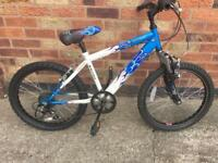 "Boys mountain bike. Raliegh Hot Rod. 13"" frame 20"" wheels"