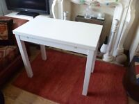 IKEA WHITE COMPACT DINING TABLE