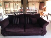 Two piece sofa set and chair