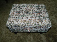 Quality Footstool (Padded Tapestry) with Storage £20 (Comber)