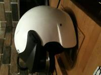 hedtec open face helmet, large as new worn 4 times rac stickered/snell SA2010,