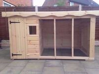 Heavy duty brand new large dog kennel and run