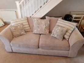 Oak Furniture Land sofa (3 seater) and snuggle chair