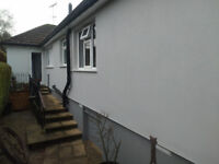 external wall insulation, rendering, fascia and gutters