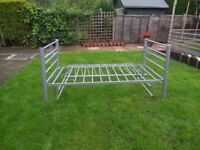 Single metal bed frame and metal trundle for sale