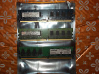 DDR2 MEMORY 1 GB sticks £2 each. Speeds: 800, 667 and 533 MHz. All good condition.