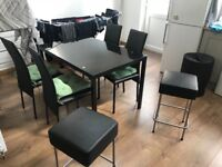 In good condition 6 chairs and 4 tables SUPER OFFER