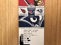 2x tickets Arizona Cardinals v LA Rams NFL - Twickenham - 22 October