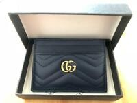 Gucci card holder purse - soft leather - navy blue