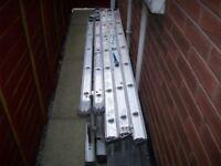 Abru 3 way ladder and 3 part extension ladder.