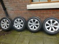 "2010 Mercedes 16"" Alloys and tyres in very good condition £300"