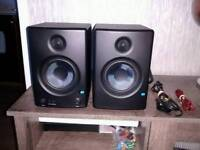 Monitor speakers.
