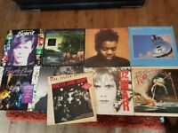 Rock vinyl record collection x9 albums