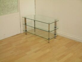 Metal & Glass Corner TV Unit