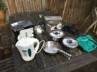 Vango Camping cook set, Russell Hobbs Travel Kettle and hob kettle