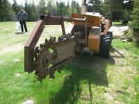 Trancheuse Tracteur   Case DH4B Articulated Trencher