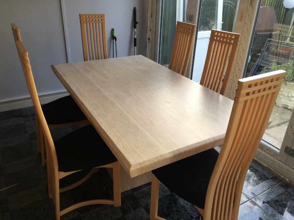 Solid Marble Dining Table Amp 6 Chairs In Birchington