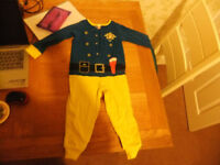 Age 2-3 Years Fireman Sam All In One Sleepsuit