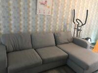 Grey corner sofa
