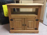 Solid Pine TV Cabinet Cupboard Unit