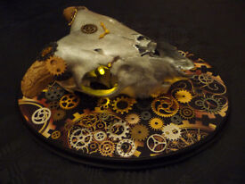LED Lamb Skull - Steampunk design