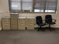 Filing Cabinets and Chairs