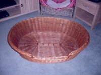 large wicker dog basket